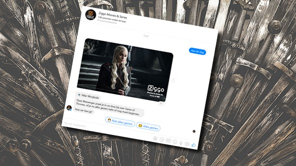 Chatbots brengen kijkers Game of Thrones up-to-date