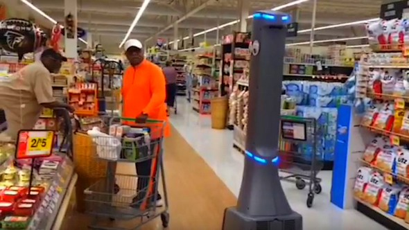 Ahold test robot in supermarkt